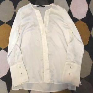 Zara shirt and round neck sweater